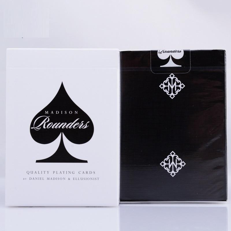 1 stücke Ellusionist Madison Rounders Schwarz/Weiß Deck Hochwertigen Magic Cards Spielkarte Poker Nahaufnahme Bühne Magie Tricks Requisiten