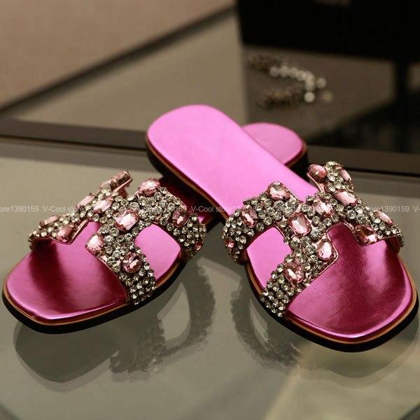 68399ffcd82 Zapatos de la mujer 2015 Ethnic sandalias para mujer sandalias planas  sandalia zapatillas H para para cuero Rasteirinha sandalia mujer en  Sandalias de las ...