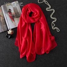 ФОТО youline 2018 fashion chiffon scarf wrap shawl women solid color summer beach long scarves muslim foulard femme scarves as45