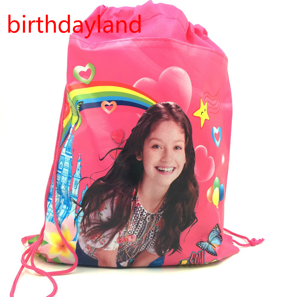 1pcs 36*25cm Soy Luna Non-Woven Fabric Drawstring Bags Baby Shower Happy Birthday Party Decoration Supplies