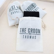 personalize Groomsmen Proposal gift bags with socks, Will You Be My Groomsman, W