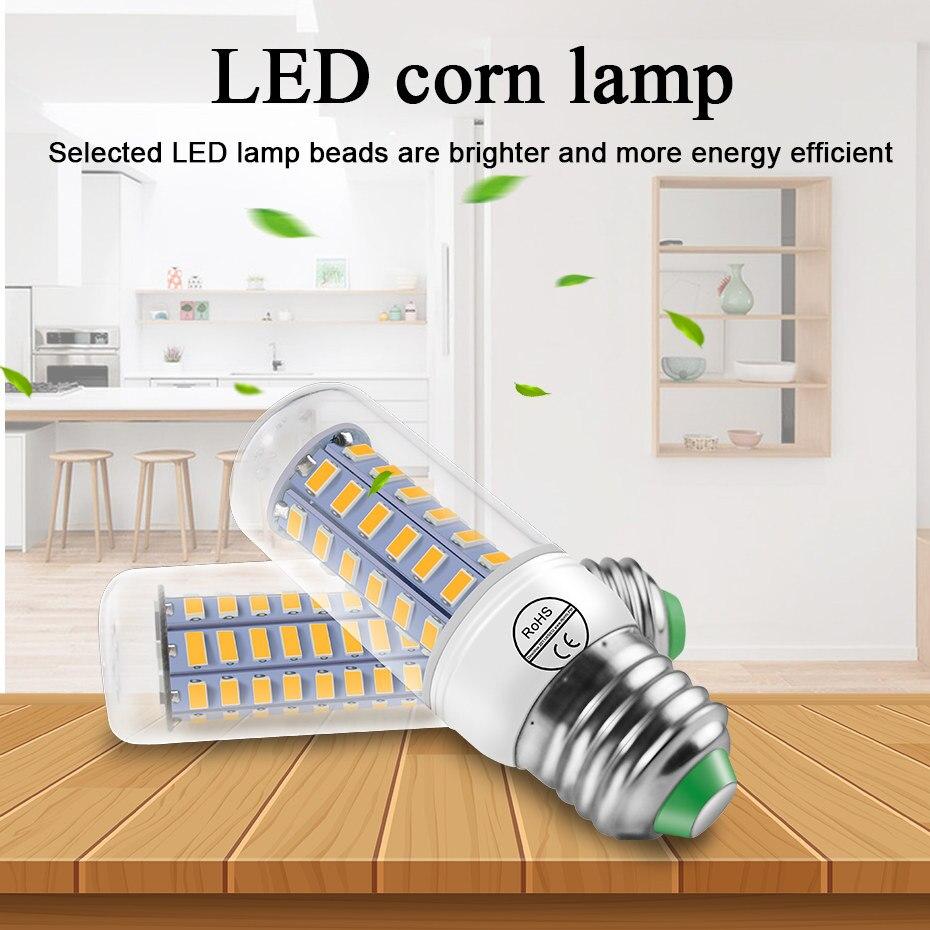 E14 Led Bulb Corn Lamp E27 220v Led Corn Light Bulb 220v Smd5730 Chandelier Leds Candle Light Spotlight For Home Lighting