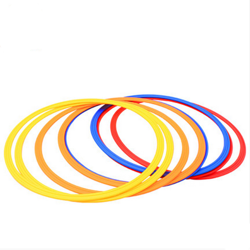 6 Pcs/Set 40cm Soccer Speed Agility Rings ABS Sensitive Football Equipment Training Agile Tabs Circle Football Training ...