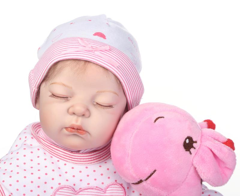Peluche 2018 nouveau visage arrivée silicone poupées 50 cm bébé-reborn-silicone-corps-fille 20 pouces russe poupée jouets pour les filles livraison gratuite