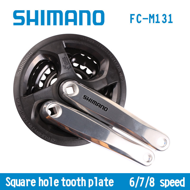 Shimano FC M131 6/7/8S 21S 24S Crankset Bicycle Components MTB Mountain Bike Chain Wheel Accessory стоимость
