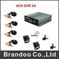 4 channel CAR DVR kit with Russian Menu,separate microphone, Russia free shipping