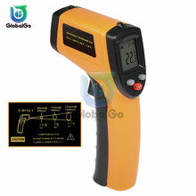 GM320 Non-Contact Laser LCD Display IR Infrared Digital C/F Selection Surface Temperature Thermometer Pyrometer Imager Gun цена
