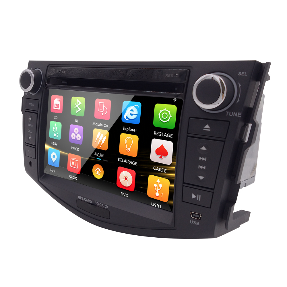 Car Head Unit Sat Nav DVD Player for Toyota RAV4 2006 2012 with GPS Navigation Radio