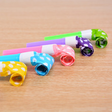 Set of 6 Polka Dot Blowout Party Noisemakers