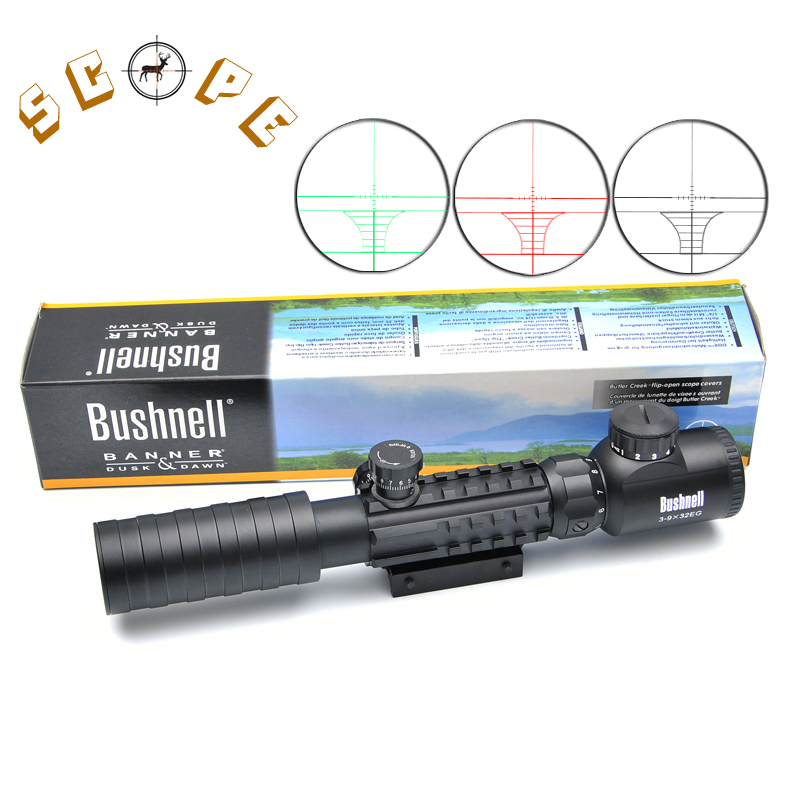 Bushnell 3-9x32 EG Hunting Scope Red /Green Dot Illuminated Sight Tactical Sniper Scopes w/22mm For Air Gun 3 5 10x40e red green dot laser sight scope hunting optics riflescopes tactical airsoft air guns scope chasse sniper rifle scope