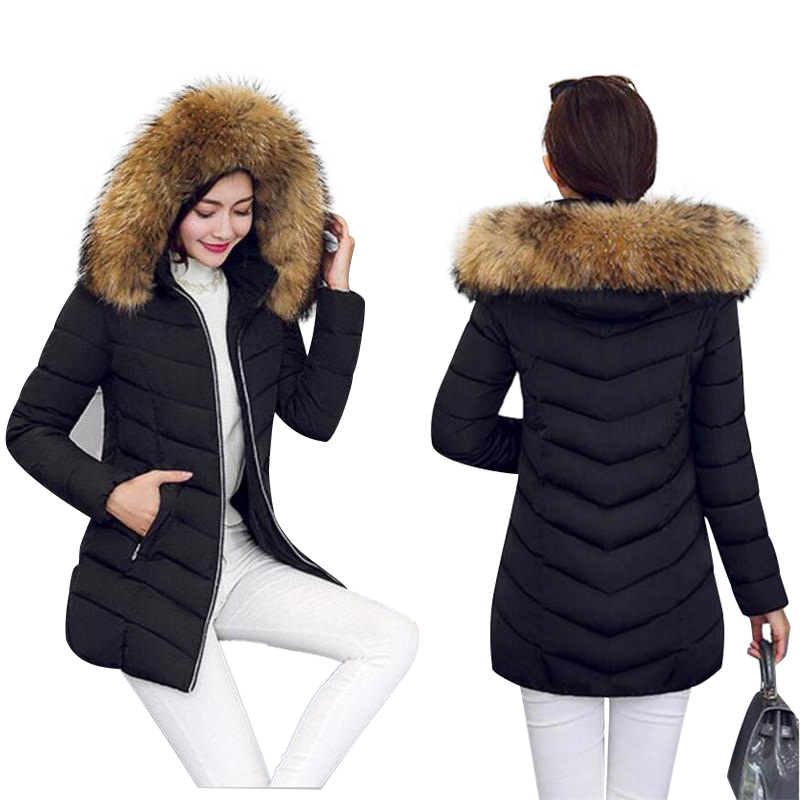 3daafd42f82 Detail Feedback Questions about Large Real Fur Outerwear 2018 Winter Jacket  Women Raccoon Fur Collar Hooded Down Jacket For Women Winter Coat Female  Long ...