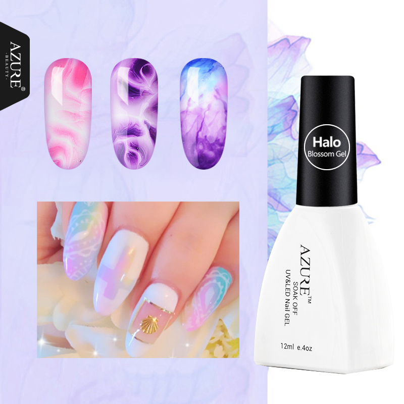 Azure Beauty Blooming Effect Blossom Gel Lacquer 1Pcs 12ML Gel Polish Professional Soak Off UV Led