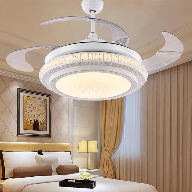 Versteckte deckenventilator licht esszimmer led schlafzimmer ...