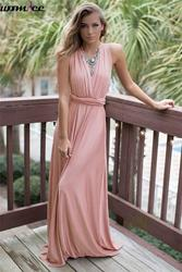 Vestido 2017 summer maxi dress women pink beach long bandage multiway convertible dresses infinity wrap robe.jpg 250x250