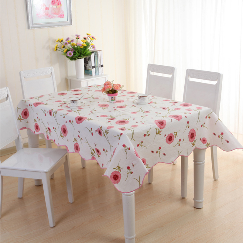 Pvc Tablecloth Waterproof Table Cover Party Picnic Round Tablecloth  Rectangle Plaid Oil Cloth Tablecloths For Kitchen