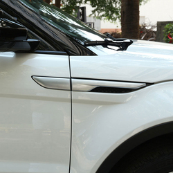 Srebrny/czarny Side Fender naklejki dla Land Rover Range Rover Evoque 2011 2016 chromowane akcesoria samochodowe ABS w Naklejki samochodowe od Samochody i motocykle na
