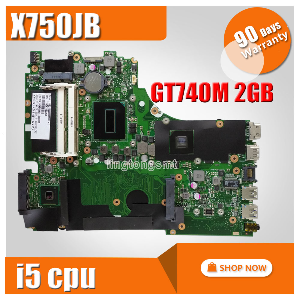 For Asus A750J A750JB K750J K750JB X750JB REV2 0 Mainboard With i5 GT740M 2g font b
