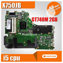 For Asus A750J A750JB K750J K750JB X750JB REV2.0 Mainboard With i5 GT740M 2g ram 100% Tested