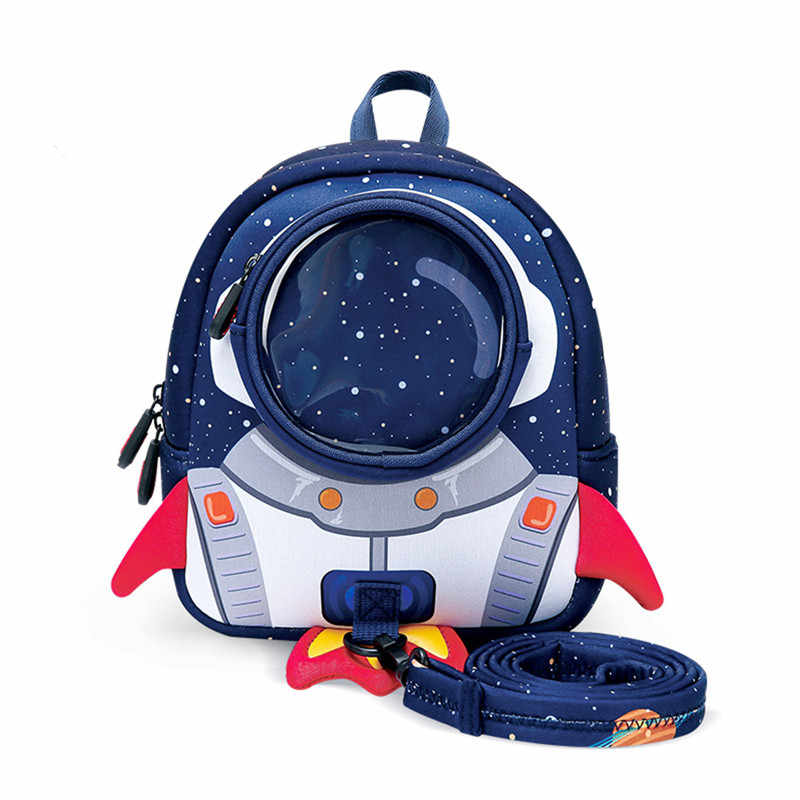 3D Rockets Anti-lost School Bags For Girls Cartoon high-grade Toy Boys Backpack Kindergarten Bags Children