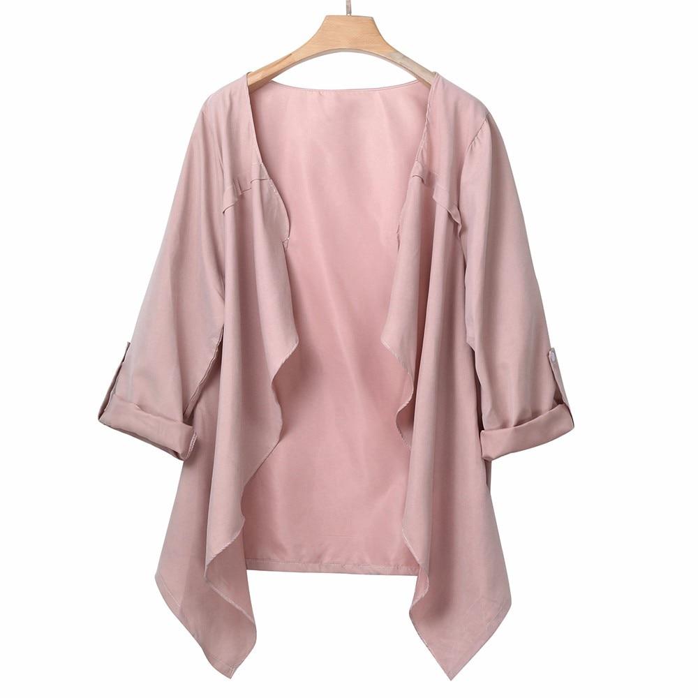 Plus size Jacket Women Fashion Jackets Jacket female coat Women's Open stitch Outwear Autumn New befree large size coats 3