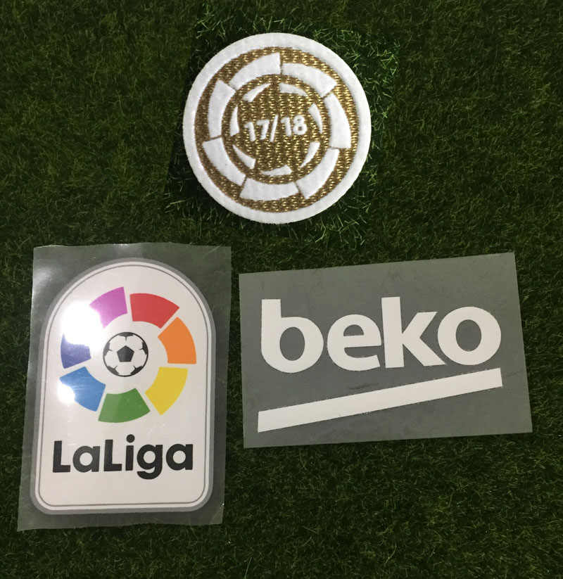 2018-2019 PU LFP Patch en La Liga Kampioen Patch en Beko Sponsor Patch Voetbal Badge
