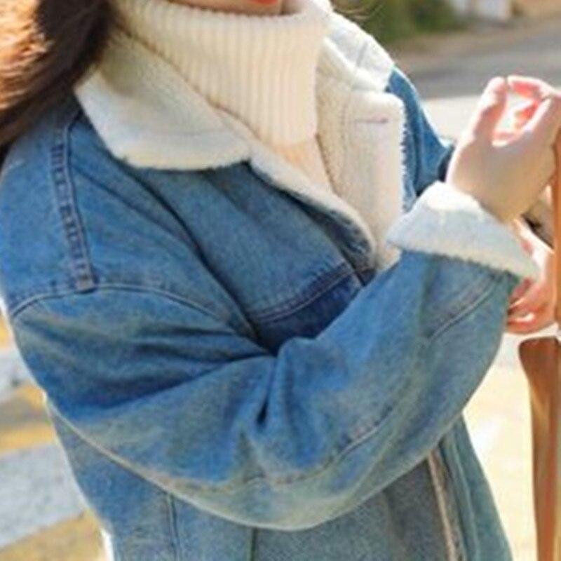 Occasionnel Automne Poitrine Unique Plus Taille Survêtement Robes Tinck Denim Nouveau Manteau Blue Parkas La Hiver Lâche Femmes Coton Pour Jeans wgd1Xq1