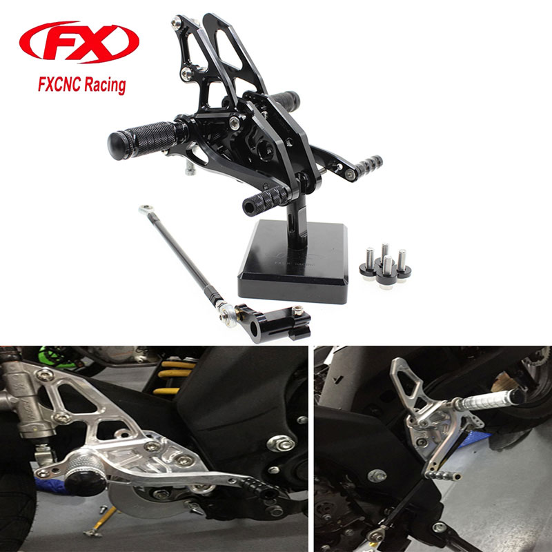 FX CNC Motorcycle Adjustable Aluminum Foot Rests Rear Sets Foot Pegs Fit for YAMAHA YZF R15 R150 2012 2013 2014 2015 Rearset morais r the hundred foot journey