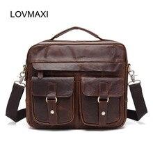 Männer Taschen aus echtem leder Vintage männer aktentaschen handtaschen natürliche rindsleder umhängetasche männliche umhängetasche