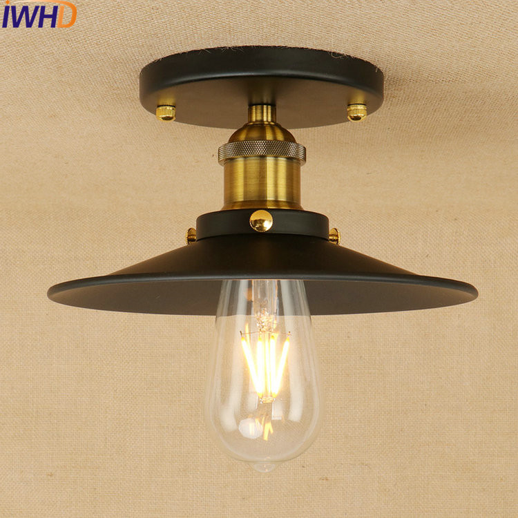 Iron RH Retro Ceiling Lights Industrial Vintage Loft Style Ceiling Lamp Fixtures For Home Lighting Stairs