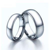His Hers 8MM 6MM Mens Ladies Ring Tungsten Carbide Classic Traditional Wedding Engagement Band Plain Dome