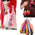 Hot Eco Storage Handbag Strawberry Foldable Shopping Bags vegetable fruit Reusable Folding Grocery Nylon Large Bag 8 colors