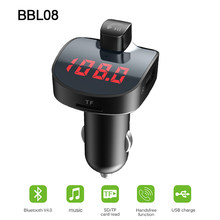 Voiture Bluetooth FM transmetteur voiture FM modulateur voiture briquet lecteur MP3 audio QC3.0 double USB chargeur de voiture 5 V/3.1A détection de tension(China)