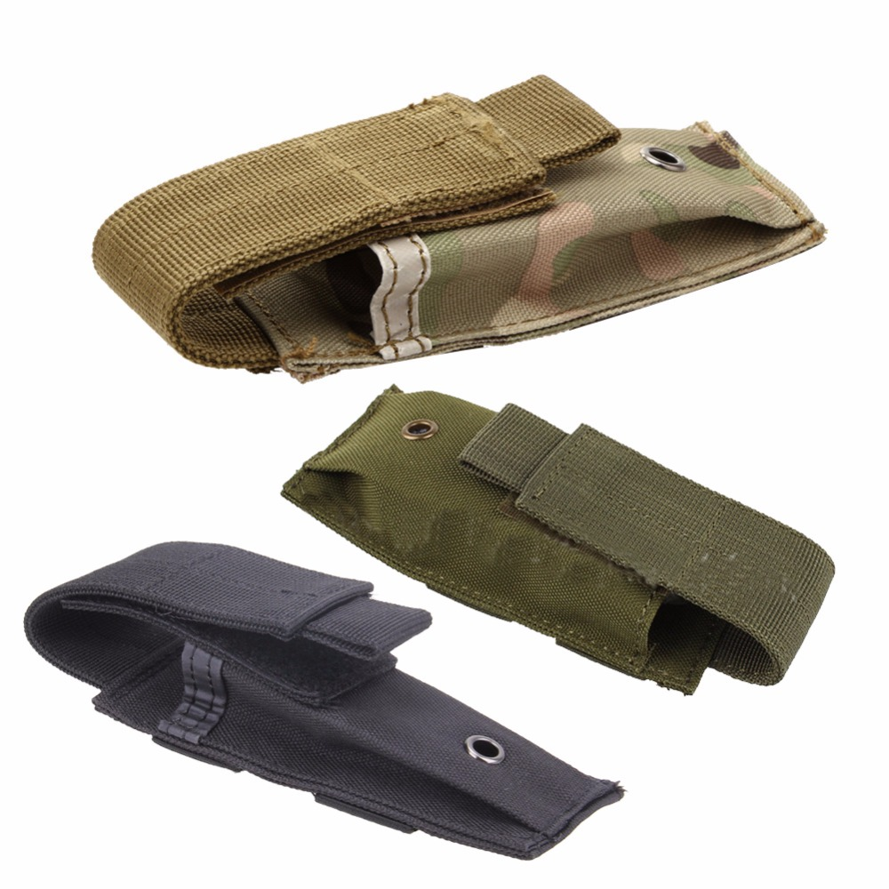Military Molle Pouch Tactical Single Pistol Magazine Pouch Multifunction Knife Flashlight Sheath Airsoft Hunting Ammo Camo Bags