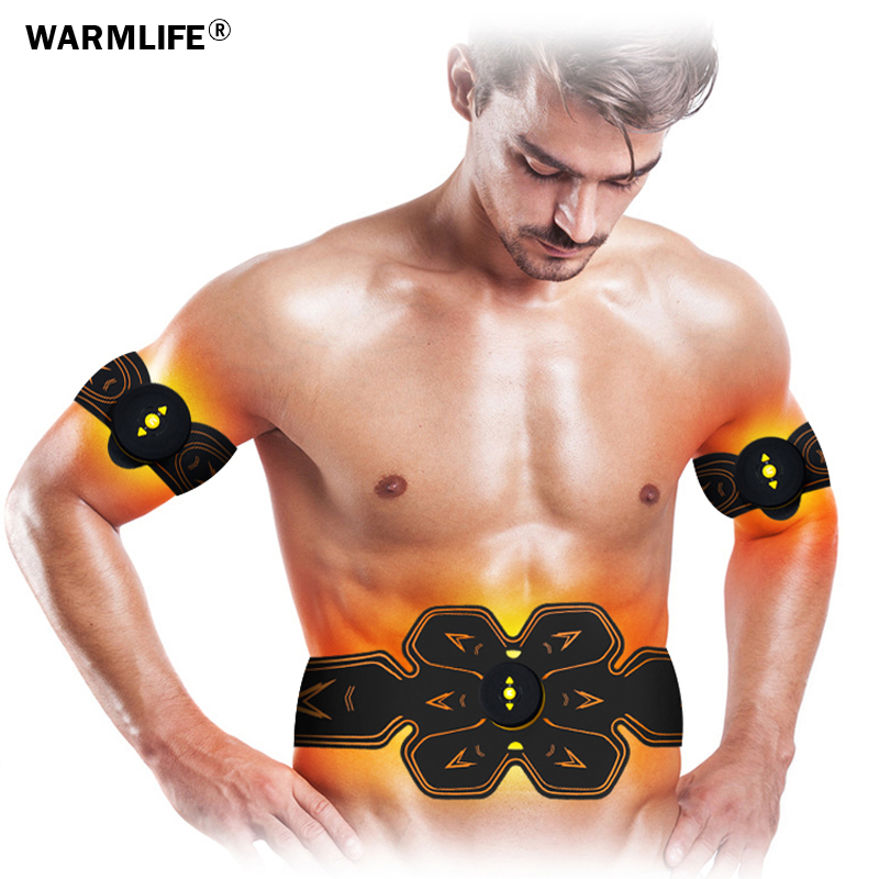Image 4 - Men Women USB Smart EMS Abdominal Muscle Stimulator Exerciser Set Training Weight Loss Slimming Massager Fitness Machine-in Massage & Relaxation from Beauty & Health