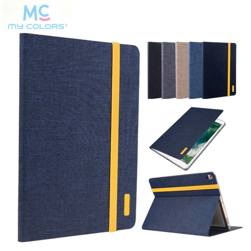 For iPad Pro 10.5 2017 Tablet Case Skin Jean Cloth Leather Cover Slim Protective Stand Fundas For Apple iPad pro 10.5 New Model cover case for huawei mediapad m3 youth lite 8 cpn w09 cpn al00 8 tablet protective cover skin free stylus free film
