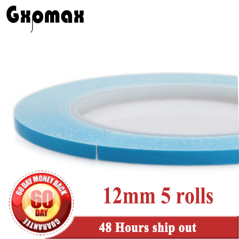 5x 12mm*20M*0.25mm Double Sided Adhesive Thermal Conductive Tape for PCB LED Strip with Heatsink Heat Transfer #DC45 45mm 25m glass fiber thermal double sided adhesive tape thermal thermally conductive tape heat conduction tape for led pcb