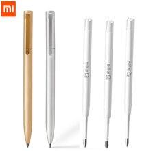 Новый Сяо Mi все металлические Mi Цзя знак пера Mi ручка 0.5 мм Подписание Pen premec гладкой Швейцарии пополнения mi куни Японии чернил