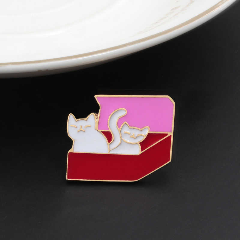 かわいい猫漫画動物子猫エナメル女性コサージュデニムドレスラペルピン帽子バッグボタンバッジジュエリーキッズギフト