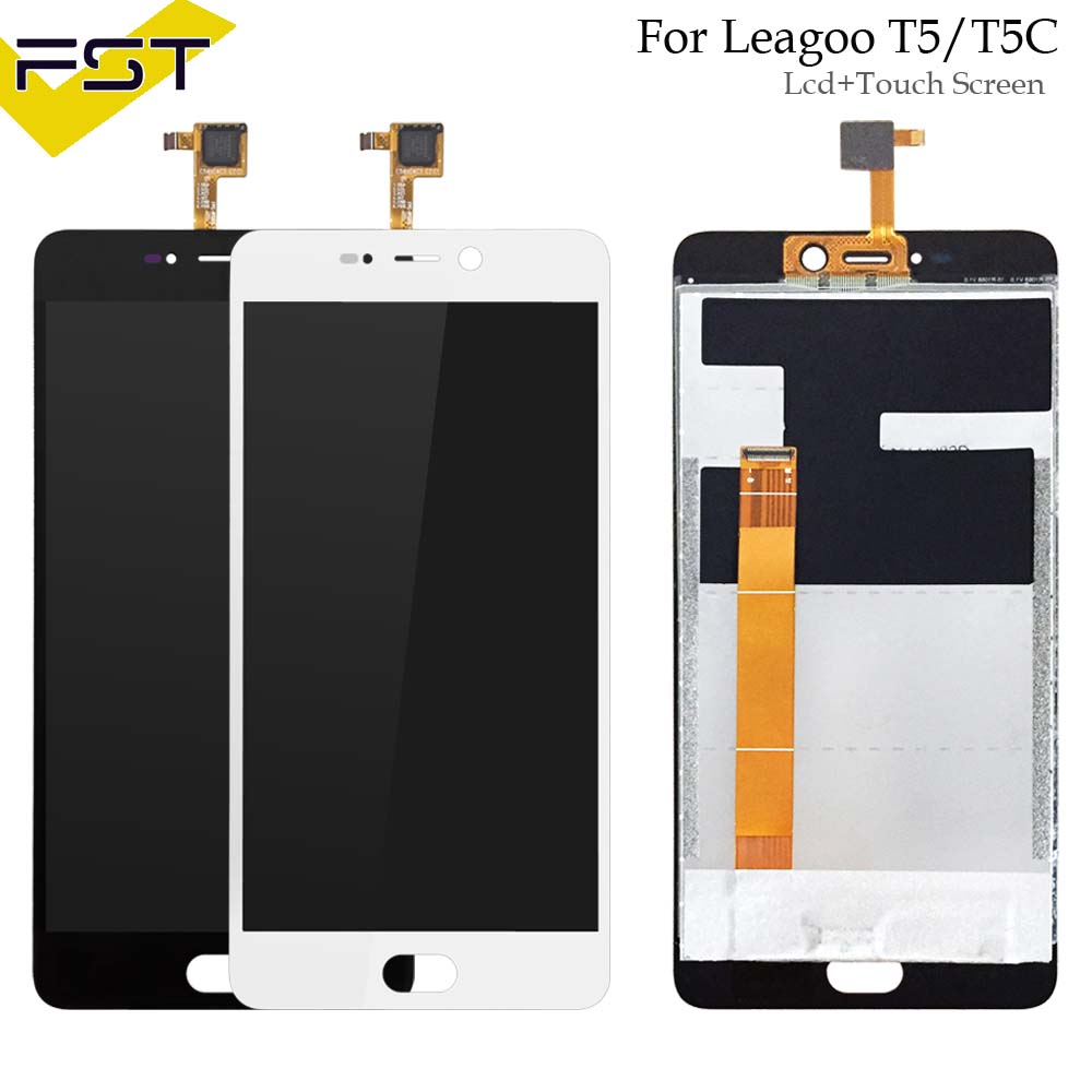 Black/White For LEAGOO T5 T5C LCD Display And Touch Screen 5.5Assembly Phone Accessories For LEAGOO T5 Repair Part +Tools