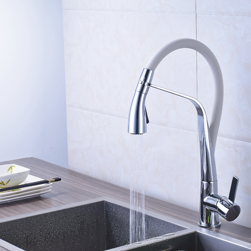 Newly Arrival Chrome Finish Bathroom Kitchen Faucet Mixer Tap Deck Mounted
