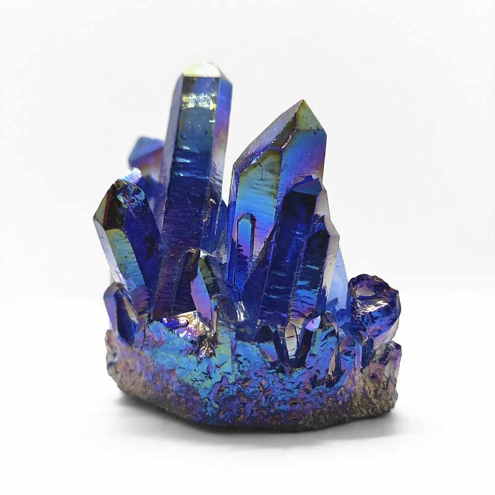 75g crystal cluster Specimen Blue angel aura flower natural electroplating Gemstone quartz cluster Healing