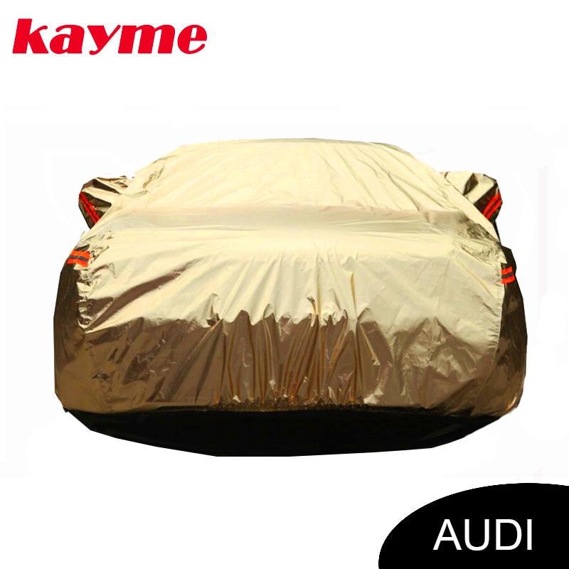 Kayme aluminium Waterproof car covers super sun protection dust Rain car cover for audi a4 b6 b7 b8 a3 a6 c5 c6 q5 q7 radiator cooling fan relay control module for audi a6 c6 s6 4f0959501g 4f0959501c