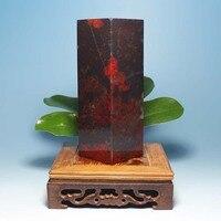 Гуйлинь Натуральный Мыльный большой черный штамп печать Красная яшма Нефрит украшения Бизнес подарки оригинальные камень