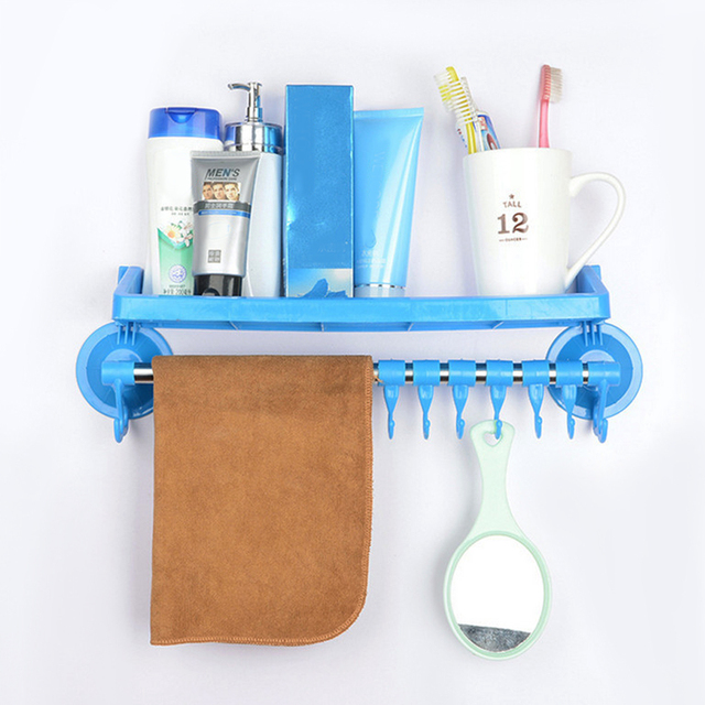 candy color bathroom shower bath suction holder for shampoos shower