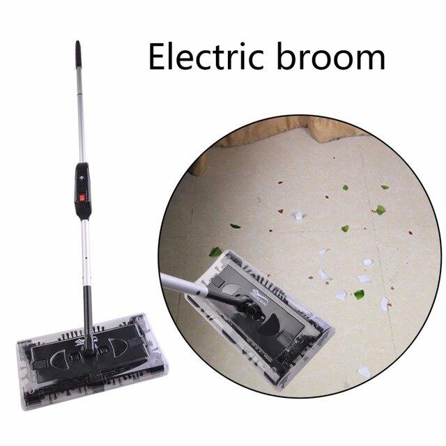 Automatico Mop Spazzatrice Girevole Spin Elettronico Mano Spinta Spazzatrice Pul