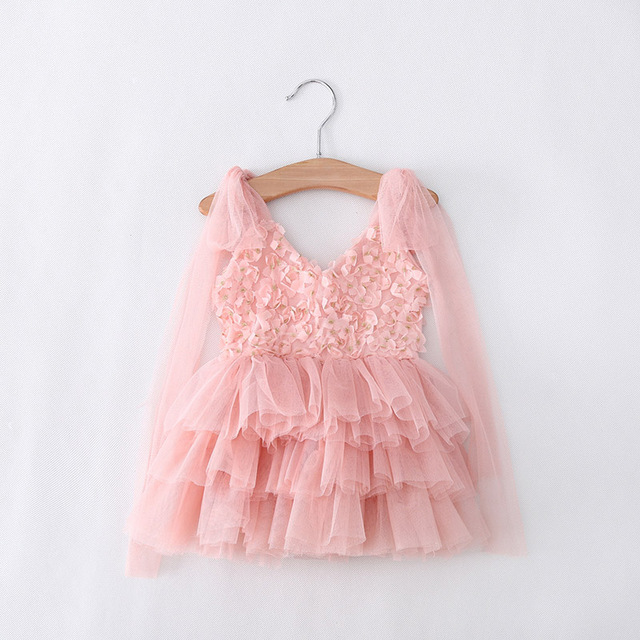 Eleven Story 1 to 5 years baby Girls summer suspender tulle dresses, baby kids boutique tutu sling clothing, 1ES505DS-55R
