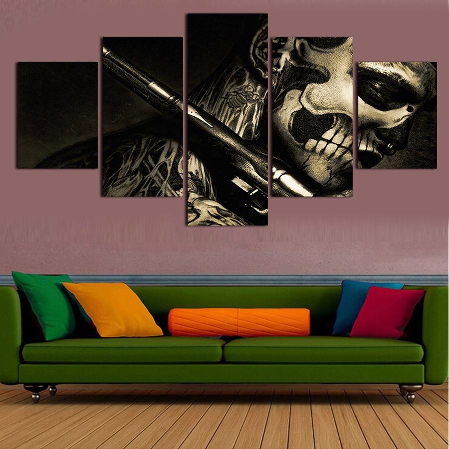 popular 5 piece canvas art buy cheap 5 piece canvas art lots from china 5 piece canvas art. Black Bedroom Furniture Sets. Home Design Ideas