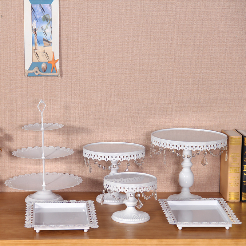 6pcs/set cupcake stand white color display tray wedding party table decoration for cupcake dessert chocolate stand