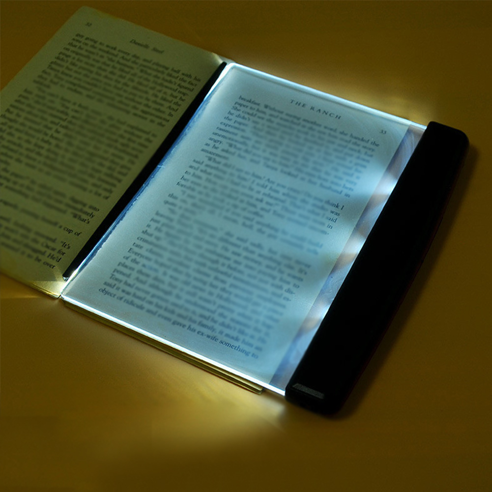 Novelty Battery Fashion Book Eye Protection Night Vision Light Reading Wireless Portable LED Panel Travel Bedroom Book Reader