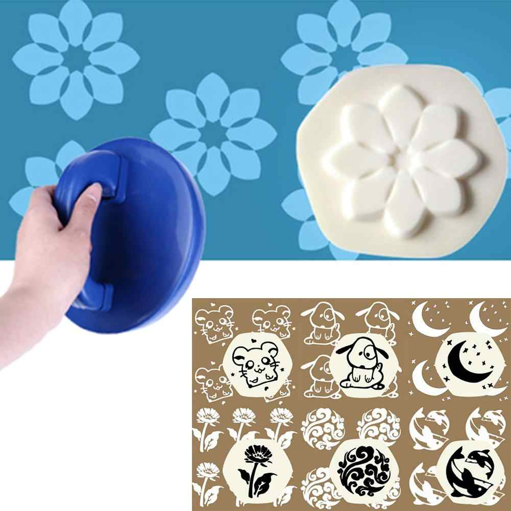 Paint Roller Brush Cartoon Elephant Flower Round Painting Roller Sponge Stamper DIY Wall Decor Wall Painting Tools
